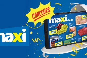 Concours Maxi: Gagnez une tablette Samsung Galaxy Tab A de 32 Go (100 gagnants), Tonsite.ca